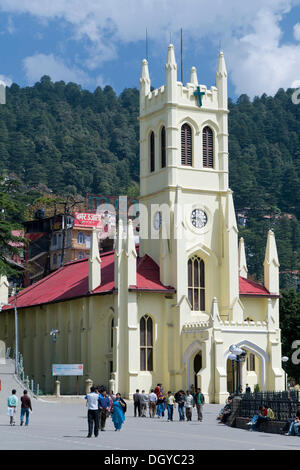 Christ Church, The Ridge, Shimla, Himachal Pradesh, North India, India, Asia - Stock Photo
