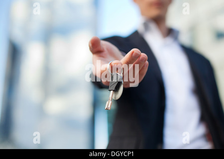 keys in the hand - Stock Photo