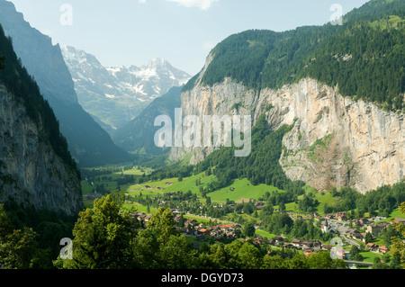 Lauterbrunnen Valley, Switzerland - Stock Photo
