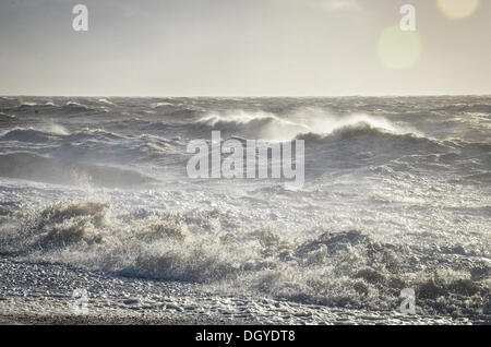 Sandgate, Kent, UK. 28th Oct, 2013.  High force winds of the St Jude storm hits the UK's Southern coast in the early - Stock Photo