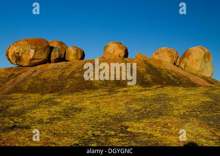 View of the World, Malindidzimu, Cecil Rhodes' Grave, Matopos or Matobo National Park, Zimbabwe, Africa - Stock Photo