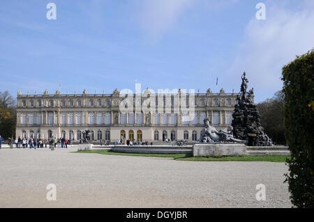 Palace grounds, palace, Herrenchiemsee, Herreninsel, Bavaria - Stock Photo