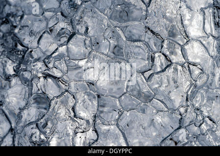 Melt patterns, close-up of an iceberg, Harriman Fjord, Anchorage, Alaska, United States - Stock Photo