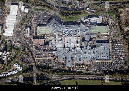 Vertical aerial view of the Metrocentre at Gateshead near Newcastle upon Tyne - Stock Photo