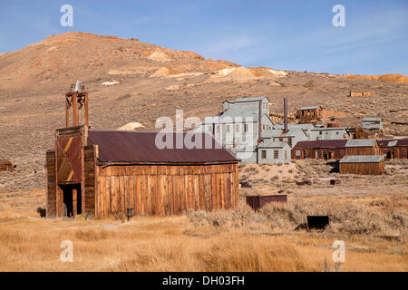 Ghost town of Bodie, Bodie, California, United States - Stock Photo