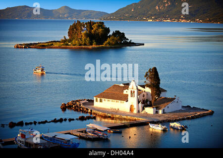 Greek Orthodox Convent of Vlachernas, Kanoni, Peninsula, Corfu, Ionian Islands, Greece, Europe - Stock Photo
