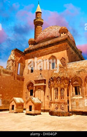 Courtyard of Ishak Pasha Palace, 18th century Ottoman architecture, eastern Turkey