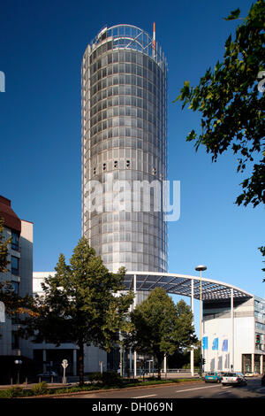 RWE Tower, Essen, Ruhr Area, North Rhine-Westphalia - Stock Photo