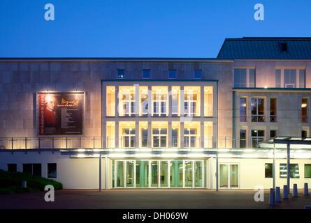 Roofed hall, philharmonic hall, Essen, Ruhr Area, North Rhine-Westphalia - Stock Photo