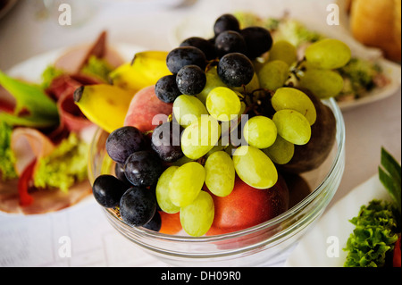 Fruits and sweets on the Swedish table - Stock Photo