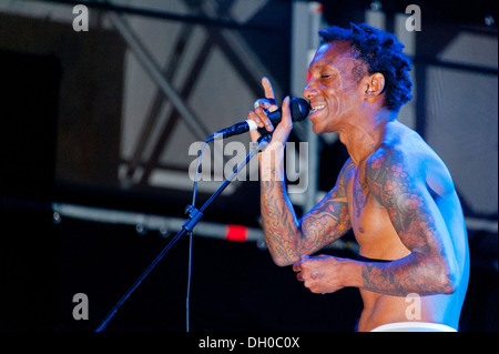 Tricky performs at Villa Ada Festival 2012. - Stock Photo