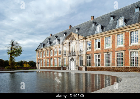Abbot's house of the Premonstratensian Averbode Abbey, Belgium - Stock Photo