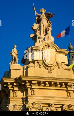 Detail of Grand Palais des Champs-Élysées Paris, France - Stock Photo