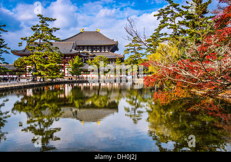 Todaiji Temple in the fall in Nara, Japan. - Stock Photo