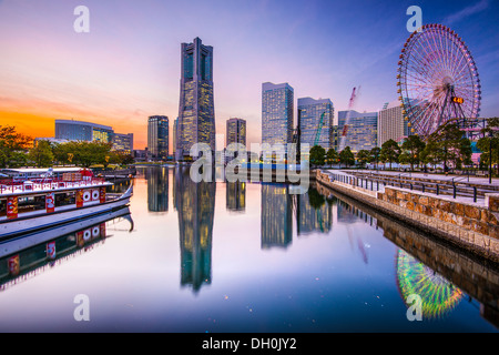 Yokohama, Japan skyline at Minato Mirai waterfront district. - Stock Photo