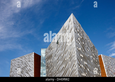 titanic belfast visitor centre titanic quarter Belfast Northern Ireland - Stock Photo