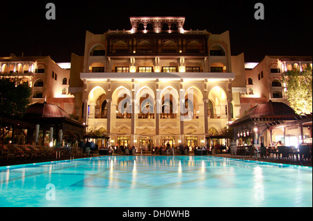 Pool at the Shangri-La Hotel, Abu Dhabi, United Arab Emirates - Stock Photo