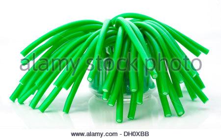 soft sticks tangle colored licorice - Stock Photo