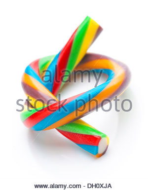 ties rods colored soft licorice - Stock Photo