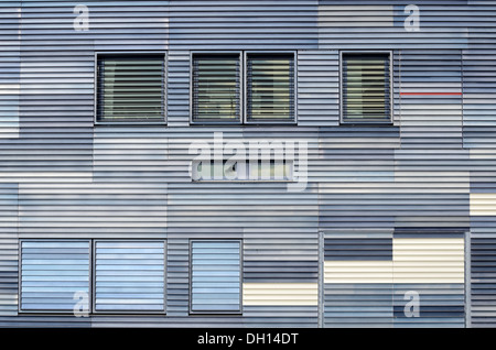 Metal Wall Cladding, Panels or Paneling on the Facade of Montpellier Town Hall or City Hall by Jean Nouvel Montpellier - Stock Photo