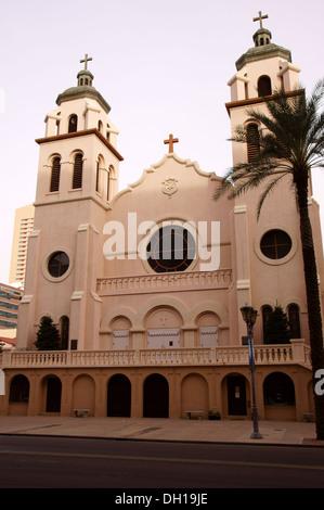 saint st marys basilica catholic church phoenix arizona az mary's immaculate conception blessed virgin mary - Stock Photo