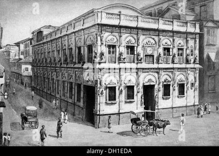 old vintage photo of Monkey temple Kalbadevi Road mumbai maharashtra India - Stock Photo