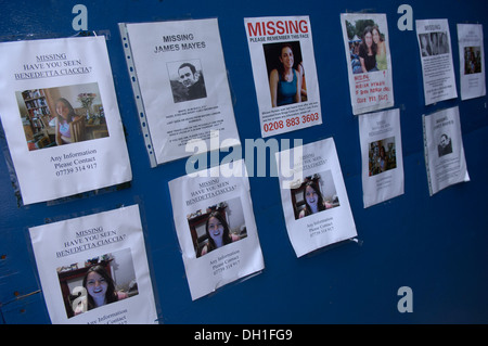 Missing Person Posters Placed Around Kings Cross The Kings Cross – Missing People Posters