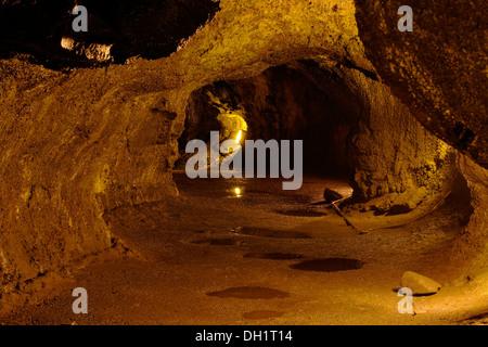 Thurston Lava Tube, Hawaiʻi Volcanoes National Park, Big Island, Hawaii, USA - Stock Photo