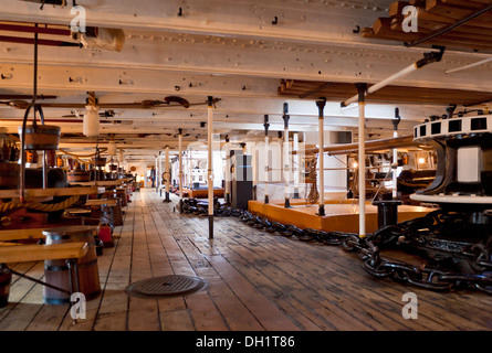 HMS Warrior in the docks Portsmouth Historic Dockyard Portsmouth Hampshire England UK GB EU Europe - Stock Photo