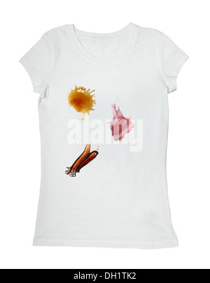 Coffee Stain On White T Shirt Stock Photo 80568777 Alamy