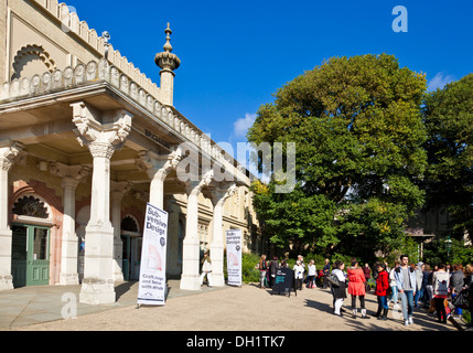 Brighton Museum and art Gallery in the Royal Pavilion Gardens Brighton West Sussex England UK GB EU Europe - Stock Photo