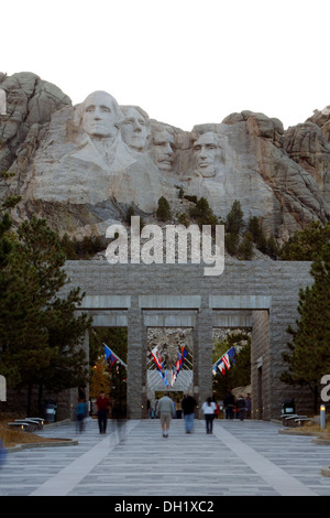 Mount Rushmore National Memorial, Keystone, Black Hills, South Dakota, USA - Stock Photo
