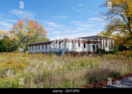 Camp 30, military ruins from World War II, Lambs Road, Bowmanville, Ontario, Canada - Stock Photo
