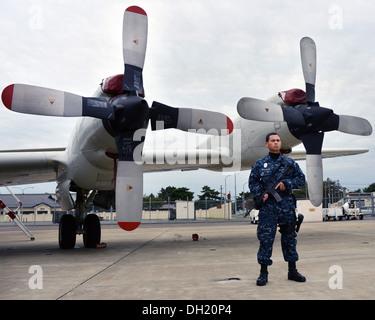 NAVAL AIR FACILITY MISAWA, Japan (Oct. 23, 2013) Master-at-Arms Seaman Anthony Lauersdorf, originally from Oak Harbor, - Stock Photo