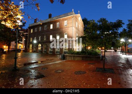 Downtown Providence River, Rhode Island, USA - Stock Photo