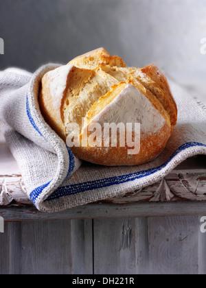 Artisan organic Pain Au Levain French Bread - Stock Photo