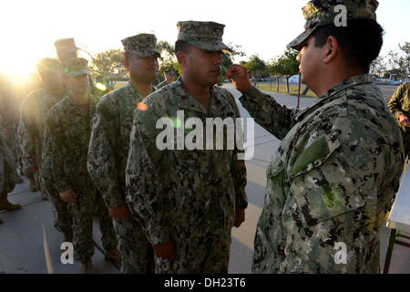 NAVAL BASE VENTURA COUNTY PORT HUENEME, Calif. (October 10, 2013) Hospital Corpsman 3rd Class Andres Castaneda, - Stock Photo
