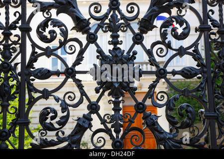 Zagreb metal fence, Croatian History Museum - Stock Photo