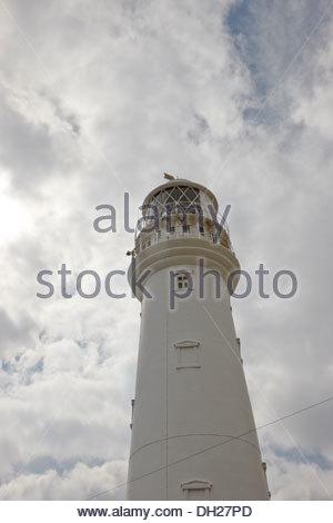 Lighthouse 1806 Flamborough Head, East Yorkshire - Stock Photo