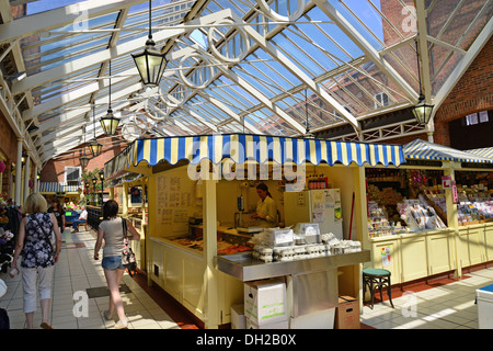 New Market Hall indoor shopping centre, Louth, Lincolnshire, England, United Kingdom - Stock Photo
