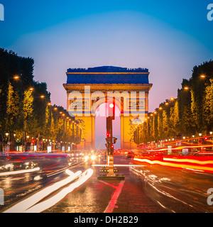 Arc de Triomphe, Paris - Stock Photo
