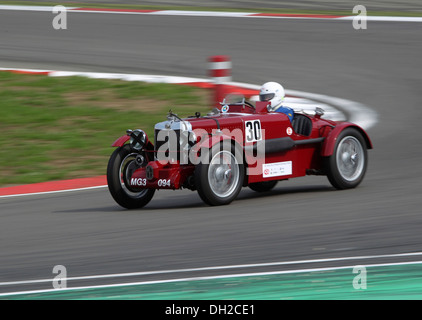 Race of the pre-war cars, Guenter Krenn in the MG Magnette from 1934, Oldtimer-Grand-Prix 2010 for vintage cars - Stock Photo