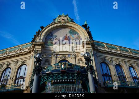 Obecni dum, Prikopy, Old town (UNESCO), Prague Czech Republic - Stock Photo