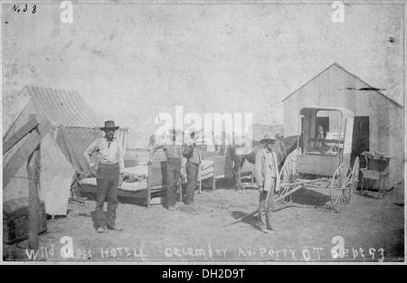 Wild West Hotel, Calamity Av., Perry, 0. T., Sept. 93. 516455 - Stock Photo