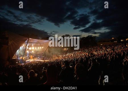 Metalfest music festival on the Loreley open air stage, Lorelei, Rhine Gorge, St. Goarshausen, Rhineland-Palatinate, - Stock Photo