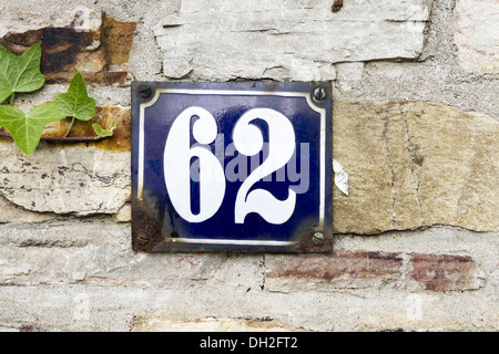 house number 62 - Stock Photo