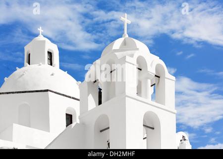 Church on the island of Santorini, Oia, Greece - Stock Photo
