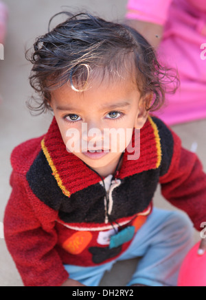 Portrait of a toddler,Rajasthan,India. - Stock Photo