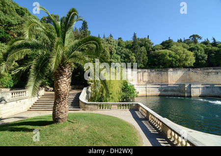 france gard nimes jardin de la fontaine irongate town emblem stock photo royalty free image. Black Bedroom Furniture Sets. Home Design Ideas