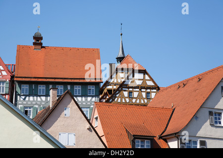 germany baden wuerttemberg bietigheim houses fountains stock photo 62145571 alamy. Black Bedroom Furniture Sets. Home Design Ideas